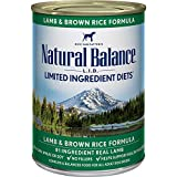 Natural Balance Limited Ingredient Diets, Lamb and Brown Rice Formula, Canned Dog Food, 13-Ounce, Pack of 12