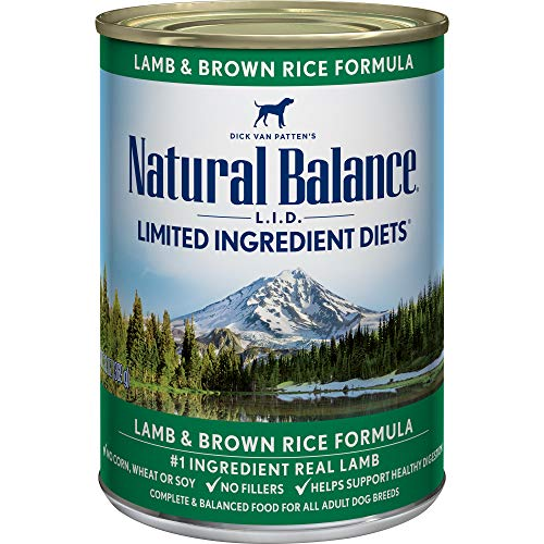 Natural Balance Limited Ingredient Diets Lamb & Brown Rice Formula Wet Dog Food, 13 Ounces (Pack of 12) (Best Dry Dog Food For Colitis)