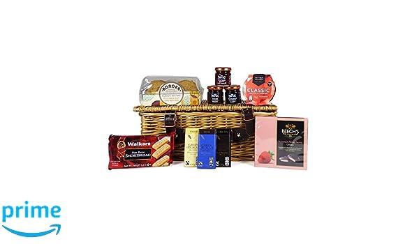 Golosinas dulces en la canasta de mimbre tradicional: el regalo ideal para cumpleaños, aniversario, bodas, para recuperarse, día de la madre: Amazon.es: ...
