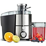 VonShef Juicer Machine, Fruit Juice Maker, Whole Fruit Juice Extractor, Centrifugal Juicer, Fruit and Vegetable, Orange Juicer, Stainless Steel, 400 Watt For Sale