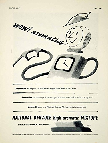 1956 Ad National Benzole High Aromatic Motor Oil Petrol Gas Pump Mr Mercury YMT2 - Original Print Ad from PeriodPaper LLC-Collectible Original Print Archive
