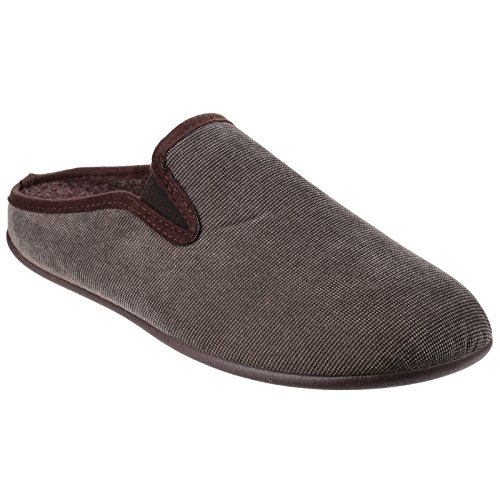 Cotswold Mens Matson Tweed Slippers Brown yfA6lK