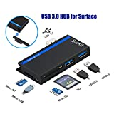 #9: USB3.0 HUB Adapter with SD/ Micro SD Card Reader for Microsoft Surface Pro 3 (12.3