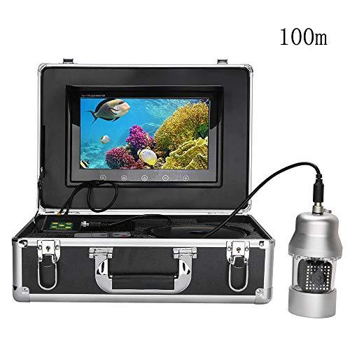 - LGFA Underwater Fish Finder 10 inch LCD Screen 360 Degree Rotation Camera 800TVL38pcs Infrared White LED Light Meters Waterproof,100m