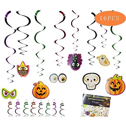 Streamers & Confetti - 16 piezas Halloween Dangling Swirls ...