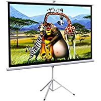 Onebigoutlet© 100 Tripod Portable Projector Projection HD Screen Foldable Stand, 87x49, 16:9
