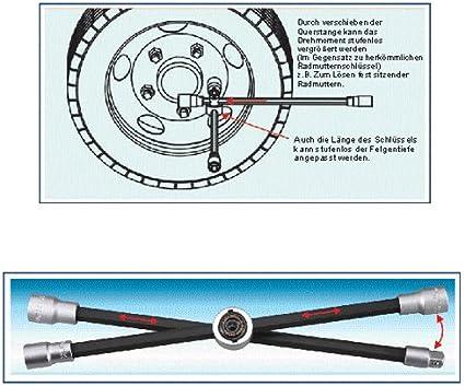 4 In 1 Spezial Radmuttern Schlüssel Radkreuz Kreuzschlüssel Kompakt Klappbar Faltbar Nuss 17 19 21 Mm 1 2 Vierkant Antrieb Baumarkt