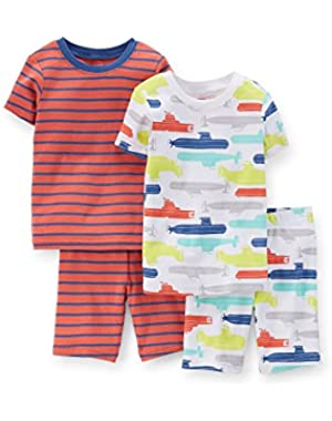 Carters 4-pc. Submarine Pajama Set - Baby Boys 6-2