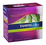 Tampax Radiant Plastc Spr Unscntd Tmpns 32 Ct