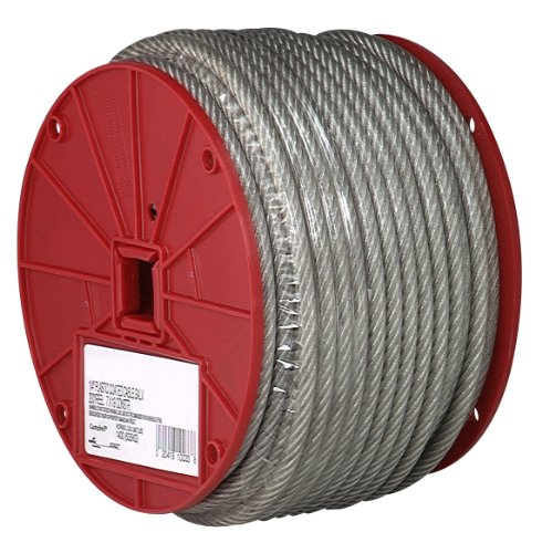 Coating Roll - Galvanized Steel Wire Rope, Vinyl Coated, 7x7 Strand Core, 3/32