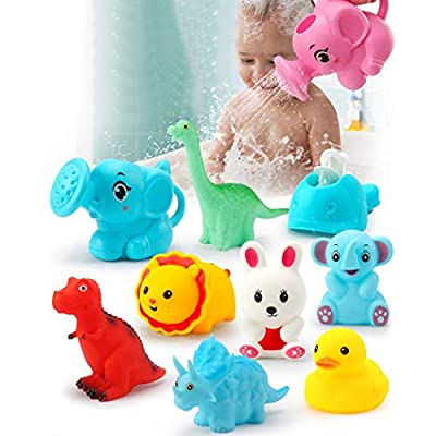 Coxeer 16PCS Kids Bath Toy Seaside Beach Funny Water Toy Shower Toy Bathtub Toy Squeaky Toy: Kitchen & Dining