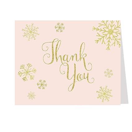 Bridal ducha tarjetas de agradecimiento, invierno, aquí ...