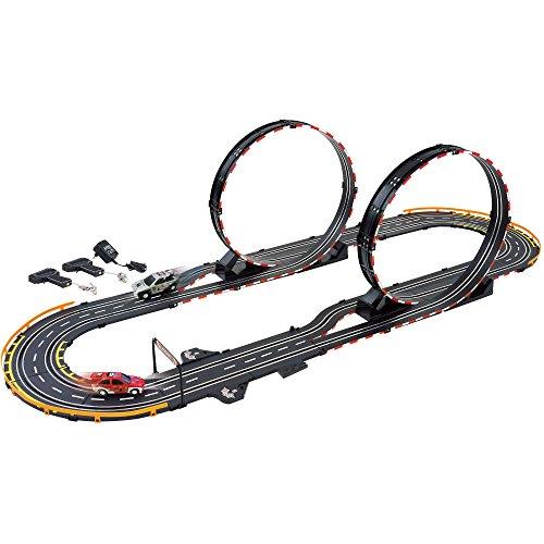 (GB Pacific 66511 Parallel Looping Electric Power Road Racing Set, Black )