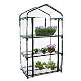 Shengruhua 3 Tier PVC Plant Greenhouse Cover - Herb and Flower Garden Green House Replacement Accessories (Just Cover, Without Iron Stand, Flowerpot)