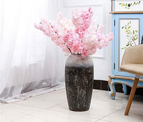 Medium one VasesNoir et Blanc Maison Classique Sauvage, atterrissage Grande décoration de Vase Art Abstrait Glaçure Rustique décoration de la Maison