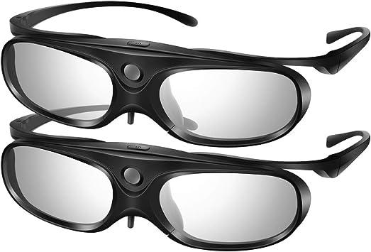 Elikliv - Gafas 3D con Obturador Activo DLP Link Compatible con ...