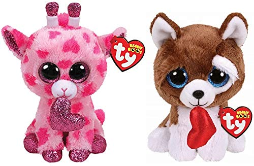 """NEW W// TAG SMOOTCHES the 6/"""" VALENTINE/'S DAY DOG TY BEANIE BOOS"""