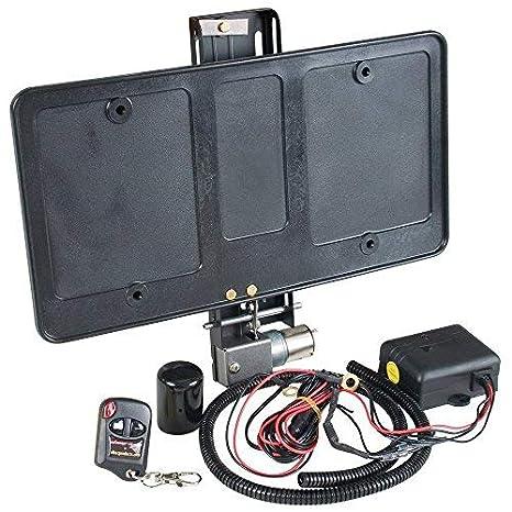 Mostrar N Go eléctrico con licencia Plate Frame - muestra y oculta automática con control remoto llaveros: Amazon.es: Coche y moto