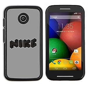 TECHCASE---Cubierta de la caja de protección para la piel dura ** Motorola Moto E ( 1st Generation ) ** --Logotipo divertido