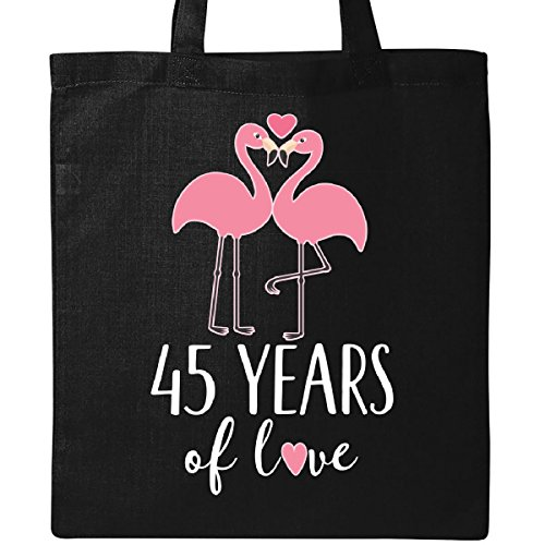 Inktastic 45th Wedding Anniversary Gift Tote Bag Black by inktastic