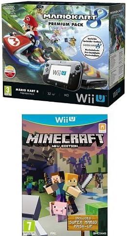 Nintendo Wii U - Consola Premium Pack Mario Kart 8 (Preinstalado) + Minecraft: Amazon.es: Videojuegos