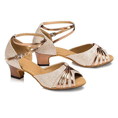 misu - Zapatillas de danza para mujer Dorado dorado