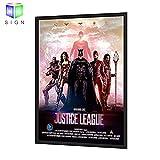 24''X36'' Backlit Movie Poster Art Picture Frame Led Light Box With Aluminum Snap Photo Frame Sign Holder (Black)