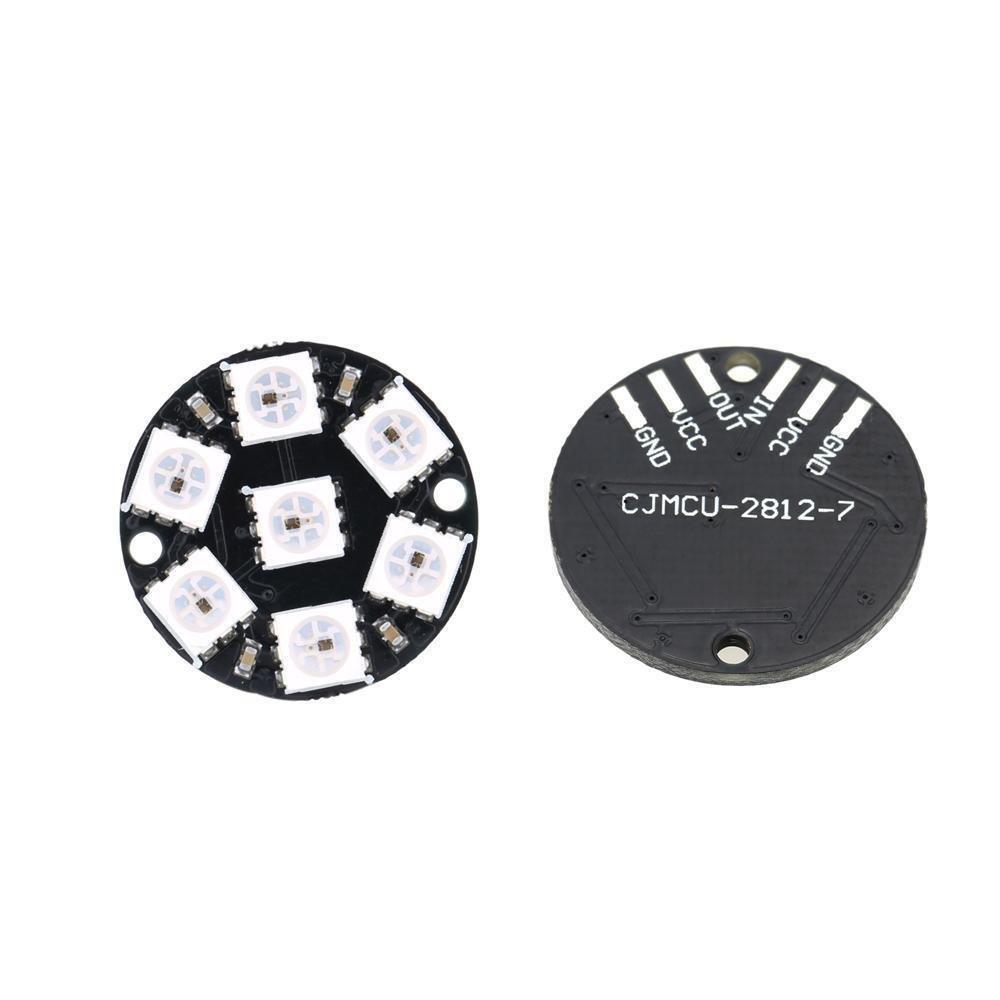 8-Bit WS2812 5050 RGB LED Lamp Panel Round Ring LED Driver Development Board UK
