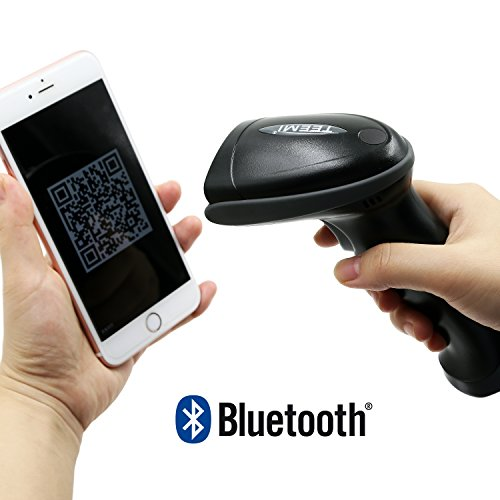 TEEMI TMSL-50 Bluetooth wireless Automatic 2D QR PDF417 Data Matrix Barcode Scanner for Apple iOS, Android, Window PC and tablets