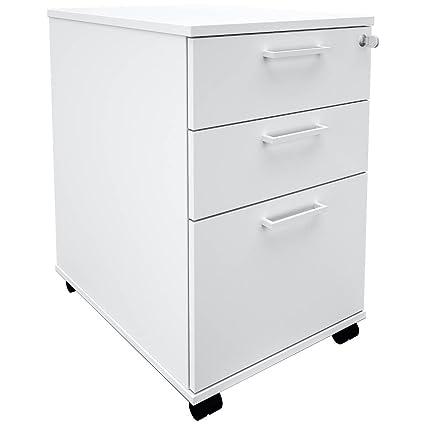 Hängeregister 60cm Tief Weiß Rollschrank Büro Container