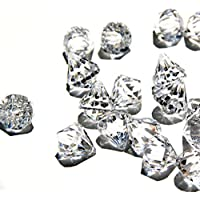 Round Diamond Crystals Treasure Gems for Table Scatters, Vase Fillers, Event, Wedding, Birthday Decoration Favor, Arts & Crafts (1 lb. Bag) By Homeneeds Inc (CRYSTAL CLEAR)