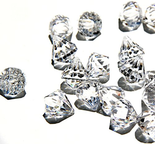 Round diamond crystals treasure gems for table scatters for 15 creative vase fillers