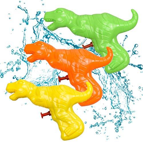 HONGKIDS Water Guns for Kids Age 2 3, Pool Toys for Kids, 3 Pcs Different Colorful Dinosaur Water Gun Toy, Dinosaur Gift for 2 3 4 Years Old ( 3 PCS Dinosaur )