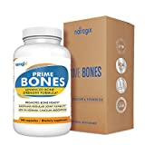 Max Bone Strength Calcium & Magnesium Supplement (240 VCaps) by Natrogix – PrimeBones with All Natural 800mg Calcium, 2000IU Vitamin D3 and Vitamin K1, K2 /Serving - Bone strength & Joint Support