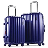 Samsonite Prism 2-Piece Hardside Spinner (20/24) Luggage Set, Blue, Checked – Medium (Model: 111719-1090)