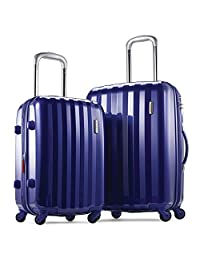 Samsonite Prism 2-Piece Hardside Spinner (20/24) Luggage Set, Blue, Checked – Medium (Model: 111719-1090)