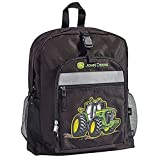John Deere Black Backpack with Tractor