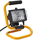 Status Portable Halogen Worklight with Metal Frame - Black/Yellow