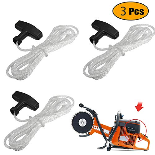 Podoy Lawn Mower Pull Starter Handle Rope Recoil with Cord Line 1.1M for Petrol Starter Mower Engine Universal(Pack of 3)