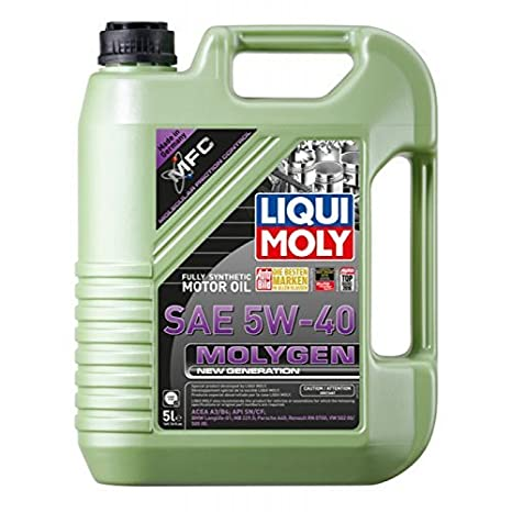 Amazon.com: Liqui Moly Molygen New Generation SAE 5W-40 Motor Oil 5L: Automotive