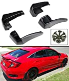 FOR 2016-2017 10TH GEN HONDA CIVIC 4DR SEDAN FRONT & REAR MUD FLAP SPLASH GUARDS-4 PCS SET (Won't Fit Hatchback & Coupe)