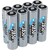 ANSMANN AA NiMH Rechargeable Batteries - Recharge capacity of 2850mAh - Pack of 8   AA batteries for many devices that take AA cells - toys, cameras, flash units, cordless phones, games consoles
