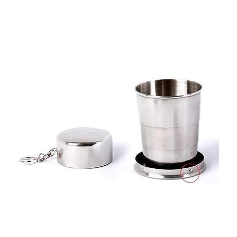 Lyanther Vaso/Taza Plegables de Viaje de Acero Inoxidable (Nunca más vuelvas a Pedir un Vaso/Taza)