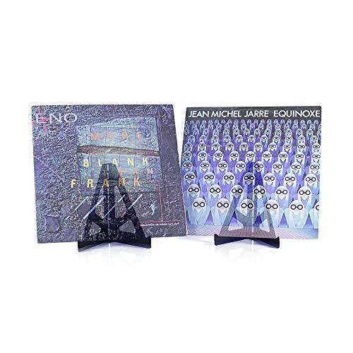 Hudson Hi-Fi BENDYY Desktop Vinyl Record Display Stand Contemporary LP Album Holder Made in USA | Black Satin | 2 Pack