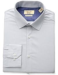 Men's Slim Fit Performance Houndstooth Dress Shirt