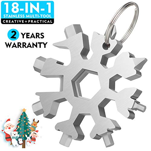 WETOLS Snowflake Multi-Tool, 18-in-1, Upgraded Stainless Steel, Portable Sturdy and Comfortable, Toolkit Used as Screw Batch, Hexagonal Wrench, Bottle Opener etc.