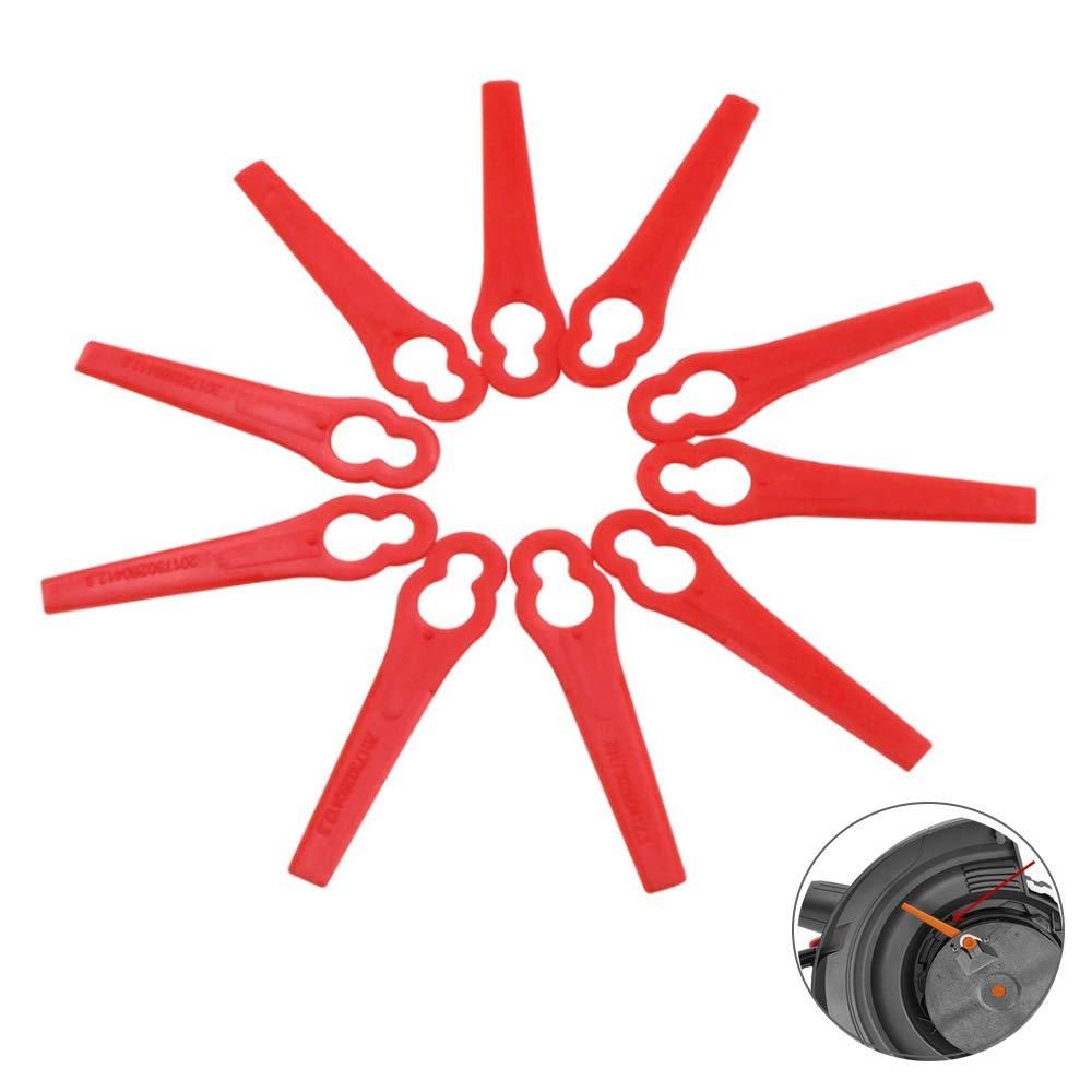 Messer //Nylon passt für Akku Rasentrimmer be 100 Kunststoffmesser Ersatzmesser