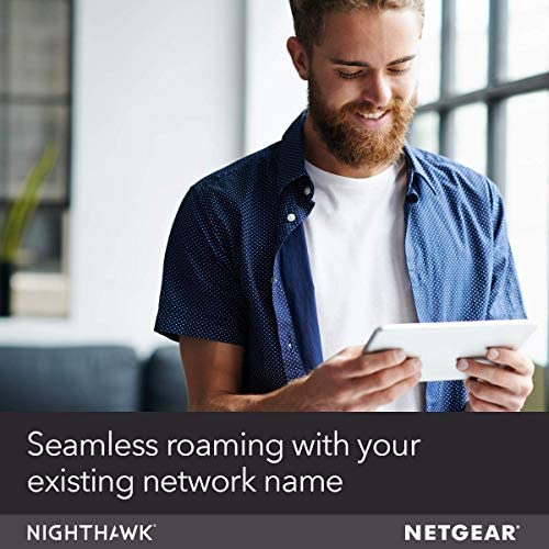 NETGEAR Nighthawk WiFi 6 Mesh Range Extender EAX80 - Add as much as 2,500 sq. toes. and 30+ gadgets with AX6000 Dual-Band Wireless Signal Booster & Repeater (as much as 6Gbps pace), plus Smart Roaming