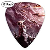 Hallome Halloween Cemetery Banshee Cartoon Girls Guitar Pick 0.46mm 0.73mm 0.96mm 12pack,Suitable for All Kinds of Guitars
