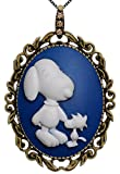Snoopy Best Friend Laurel Tree Brooch Two Way Necklace Functional Pendant Jewelry 2 Chain Pouch for Gift